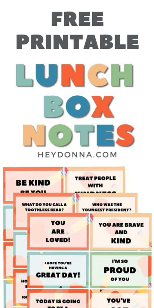 Notes for kids lunch   Silly notes for kids lunch   Lunch box notes with jokes   Encouraging notes for your kids lunches