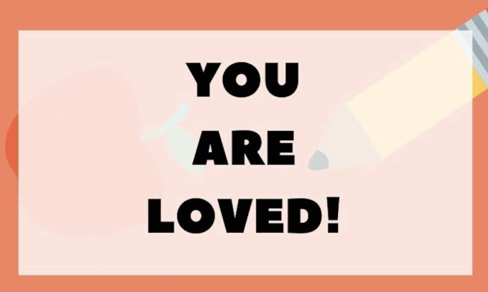 """""""You are Loved"""" Encouraging Lunch Box Notes printable"""