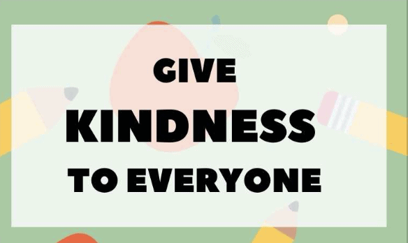 Give kindness to everyone - Free printable lunch box notes. Encouraging note for kids lunch