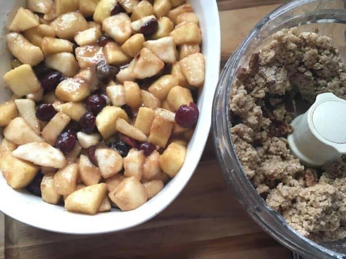 apple cherry crumble ingredients
